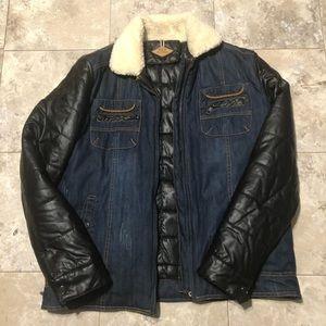 Other - Men Biker Jacket Coat Winter Puffer